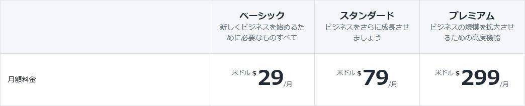 shopify料金プラン